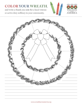 COLORING PAGE: What Is A Veterans Wreath?