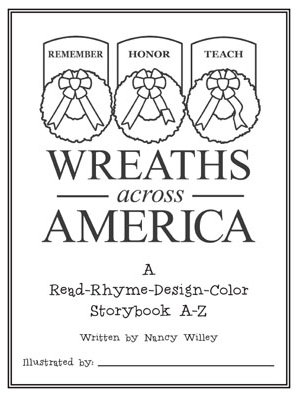 COLORING BOOK: WAA Read-Rhyme-Design-Color A-Z Storybook
